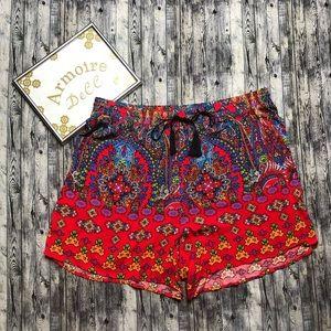Cato Aztec Print Shorts